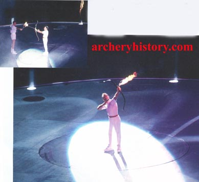 Lighting the Olympic Torch Martin Mamba/Special Easton Bow & Archery History Arrows