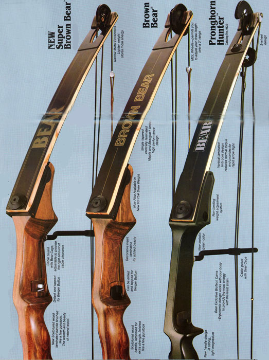 Nice Bear Kodiak Magnum Recurve Bow 50X# RIGHTY with 14 ...